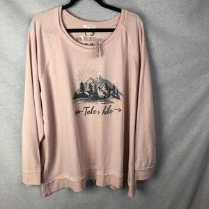 Maurices Take A Hike Crew Lace Up Back Sweater